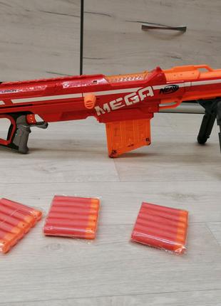 Нерф Мега Центурион в хор состоянии + 18 пуль Nerf Mega Centurion