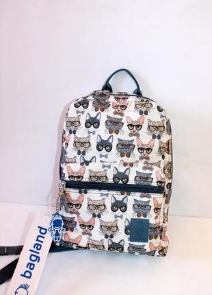 Рюкзак, ранец, городской рюкзак, спортивный рюкзак, коты, мале...