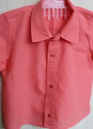 Рубашка с коротким рукавом на мальчика 1,5-3 лет