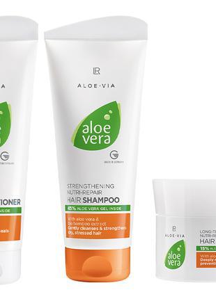 Набір для відновлення та догляду за волоссям ALOE VIA Aloe Vera
