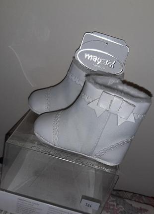Зимние пинетки-ботинки mayoral  17р для девочки  в коробке