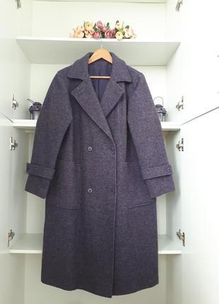 Шерстяное демисезонное пальто canda c&a