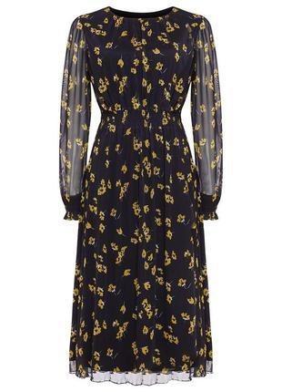 Роскошное платье цветочный принт  нарядное вечернее повседневн...