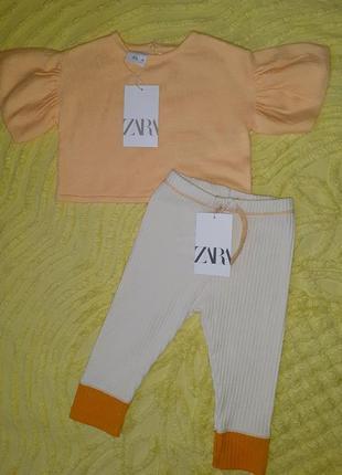 Блуза  zara baby с биркой 9 -12м для девочки