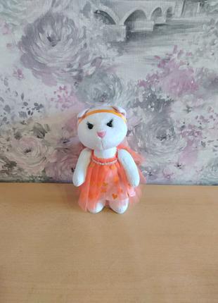 Мягкая плюшевая игрушка кошка киса кошечка подарок рождения