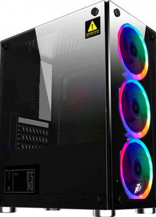 Компьютерный корпус 1stPlayer X2-R1 Color LED Black закаленное ст