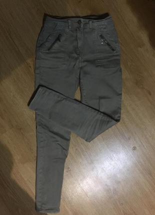 Штаны скини защитного цвета/брюки/джинсы
