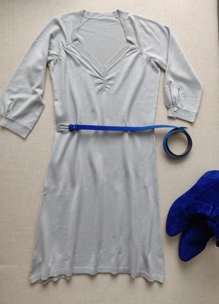 Платье трикотажное h&m серое