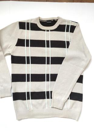 Шикарный мужской свитер серый с черным полосатый matinique #ро...