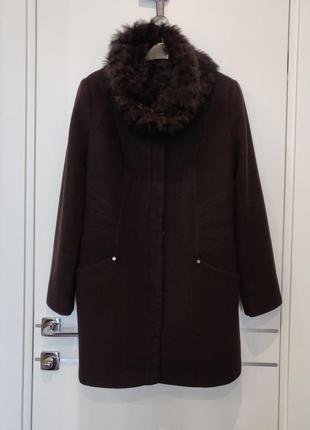 Классное шерстяное пальто love republic s-m-l