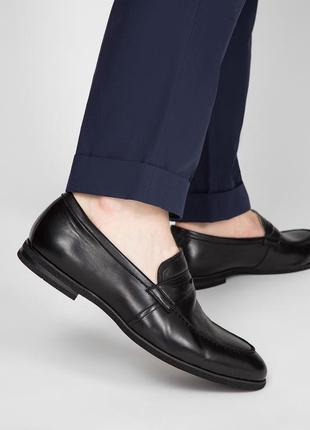 Новые мужские кожаные туфли лоферы в стиле gucci
