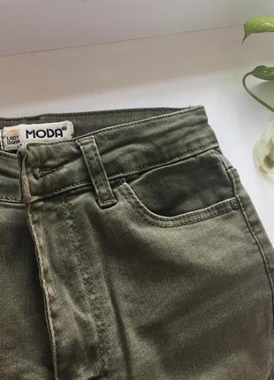 Джинсы скини/skinny высокая талия брюки/штаны