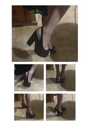 Босоножки туфли на высоком каблуке платформе/танкетке