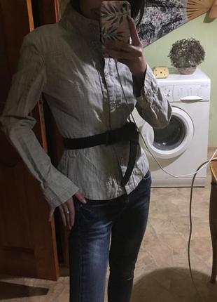 Пиджак жакет льняной лён коттон