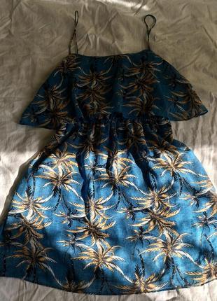Сарафан платье платьице mango с воланом рюши