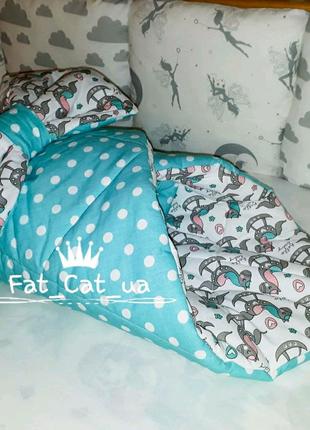 Конвертик на выписку, одеялко, пледик