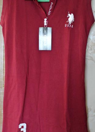 Платье поло р. 48
