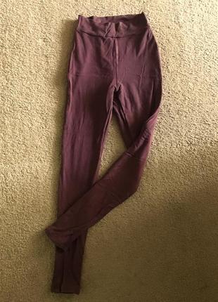 Лосины штаны высокая талия посадка леггинсы тёплые утеплённые