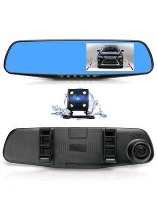 Зеркало регистратор с камерой заднего вида