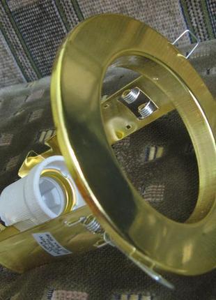 Светильник точечный R80 E27 LUMEN Золото