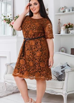 Вечернее кружевное платье большие размеры