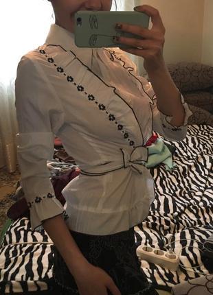 Блузка блуза белая школьная деловая офисная
