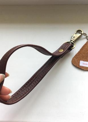 Кожаный брелок для ключей клатча сумки