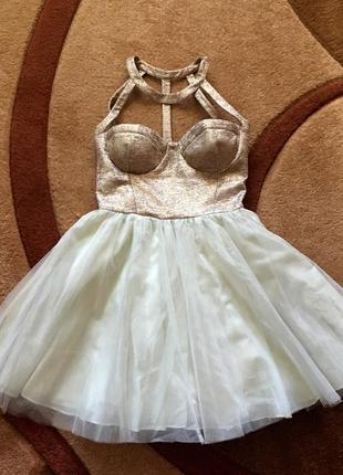 Платье коктейльное вечернее выпускное нарядное праздничное фат...