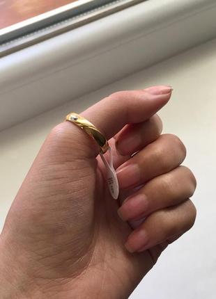 Кольцо колечко бижутерия золото на большой палец/обручальное