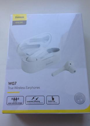 Беспроводные наушники Baseus W07 White
