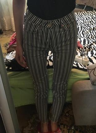 Штаны брюки котон в полоску/полосочку