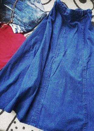 Джинсовая юбка большой размер