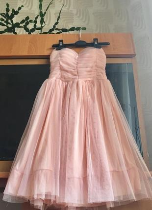 Платье фатиновая юбка коктейльное праздничное нарядное выпускн...