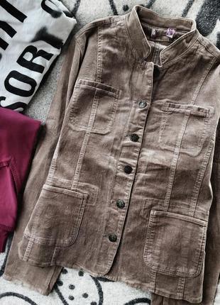 Cстрейчевый вельветовый пиджак большой размер