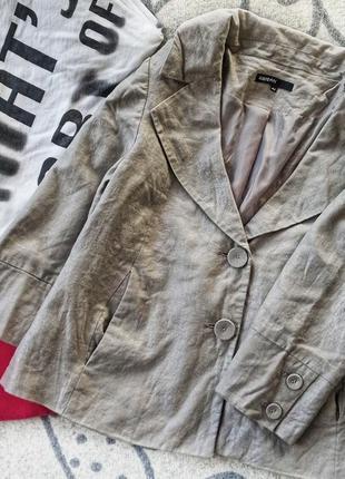 Пиджак лен с напылением