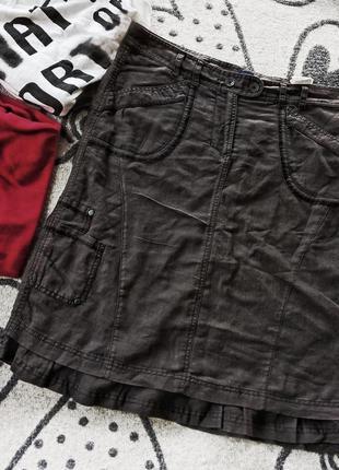 Стильная юбка 55%лен