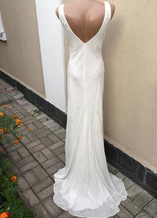 Винтаж,шелк100% платье шлейф,фотосессий,сарафан вечерний,откры...