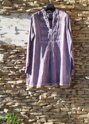 Стильная котоновая туника рубашка большого размера