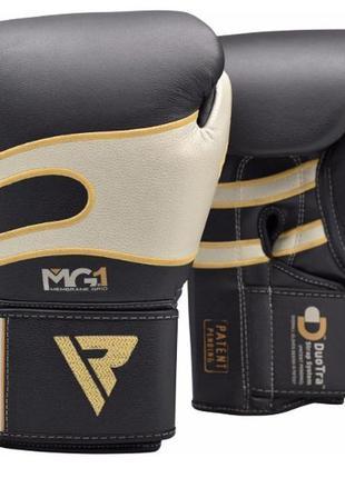 боксерські рукавиці RDX Leather Black Gold MG-1 12oz
