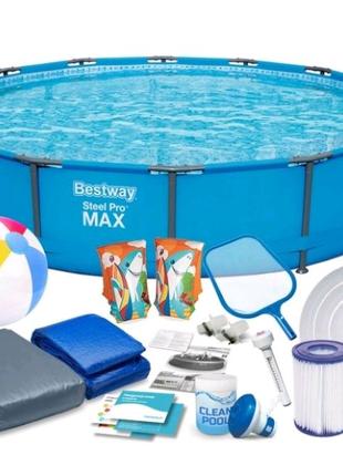 НОВЫЙ каркасный бассейн Bestway 427x84 Steel Pro MAX  .