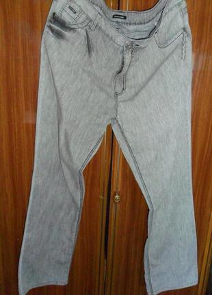 Отличные облегченные мужские  джинсы,размер l,xl