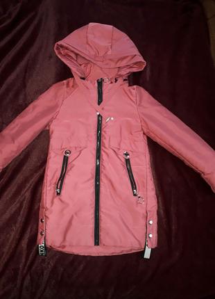 Куртка весна-осень для девочки 6-8лет