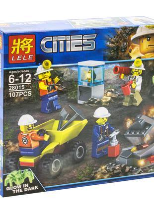 "Конструктор ""Cities: шахтёры"", 107 дет LELE (28015)"