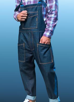 Мужской джинсовый комбинезон  XL