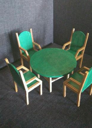 Мебель для барби. Стол и стулья для барби