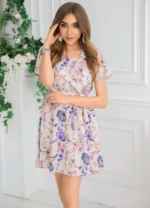 Платье цветы