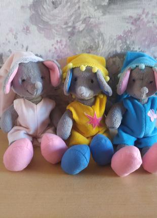 Мягкая плюшевая игрушка мышка сплюшка мышь ПОДАРОК рождения детям