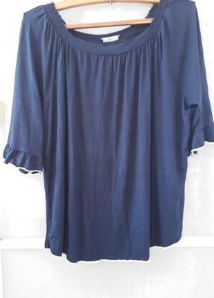 Блуза синяя с белой окантовкой bonita