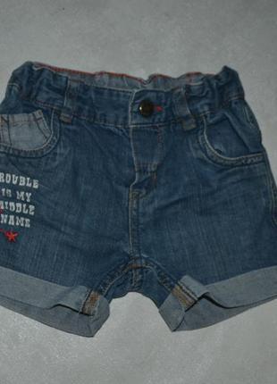 Детские джинсовые шорты baby club (беби клаб)