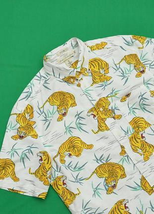 Рубашка гавайка h&m